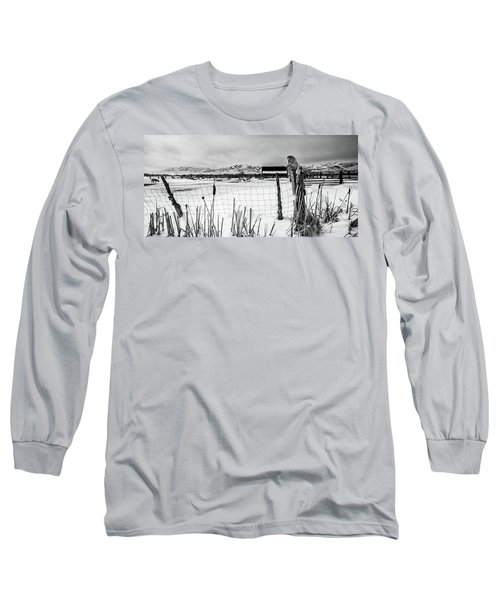 Keeping Watch Black And White Long Sleeve T-Shirt