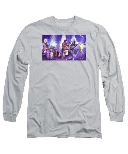 Long Sleeve T-Shirt featuring the painting Keller And His Compadres by David Sockrider