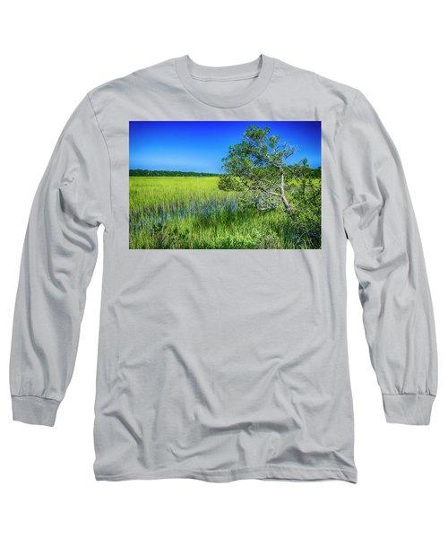 Kent Mitchell Nature Trail, Bald Head Island Long Sleeve T-Shirt