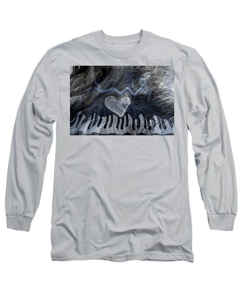 Long Sleeve T-Shirt featuring the digital art Key Waves by Linda Sannuti