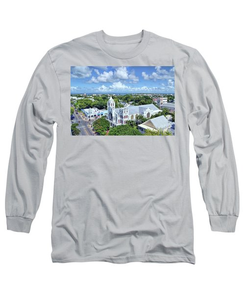 Long Sleeve T-Shirt featuring the photograph Key West by Olga Hamilton