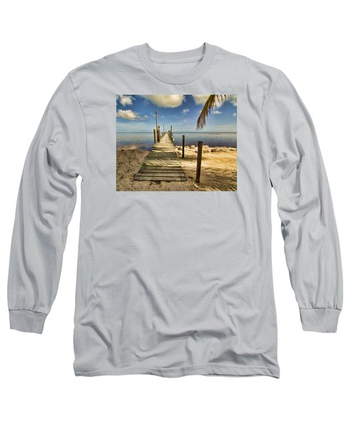 Long Sleeve T-Shirt featuring the photograph Keys Dock by Don Durfee