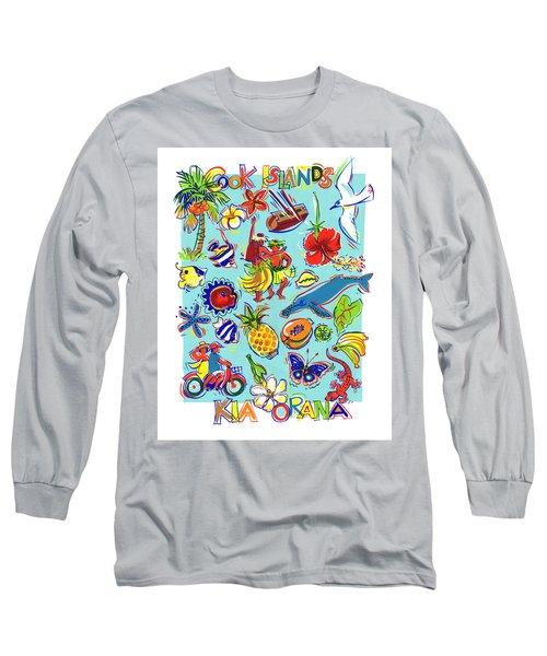 Kia Orana Cook Islands Long Sleeve T-Shirt