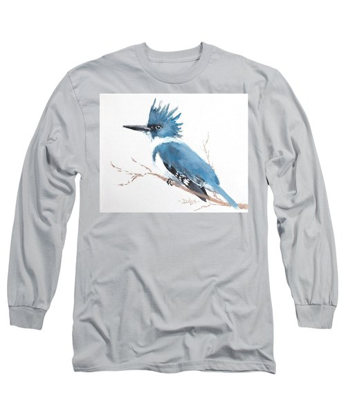 Kingfisher On A Branch Long Sleeve T-Shirt