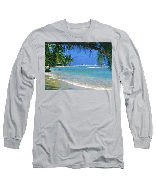 King's Beach, Barbados Long Sleeve T-Shirt