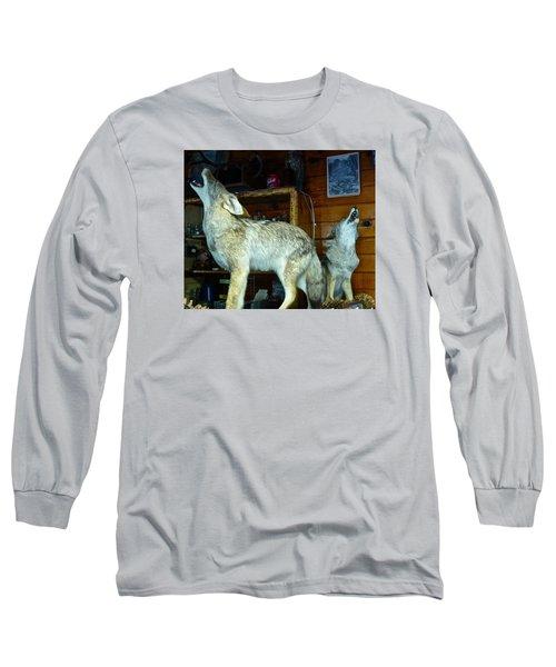 Kings Canyon Lodge Coyotes Long Sleeve T-Shirt by Amelia Racca