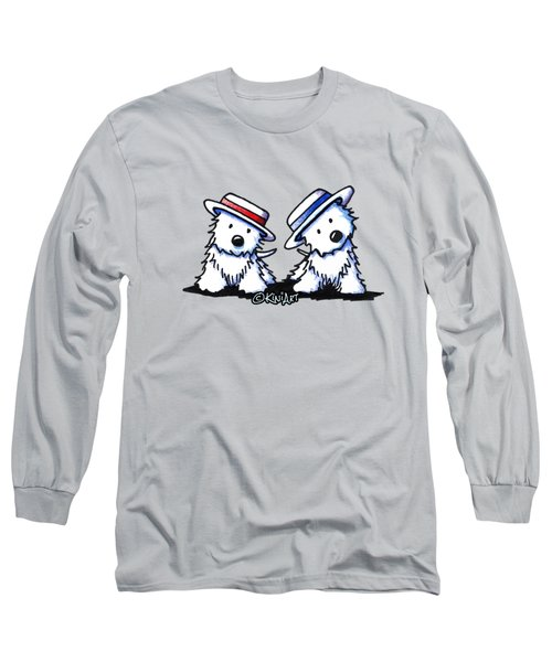 Kiniart Westie Dancing Duo Long Sleeve T-Shirt