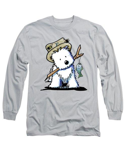 Kiniart Westie Fisherman Long Sleeve T-Shirt