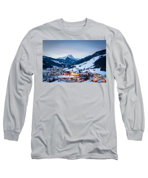Kirchberg Austria In The Evening Long Sleeve T-Shirt