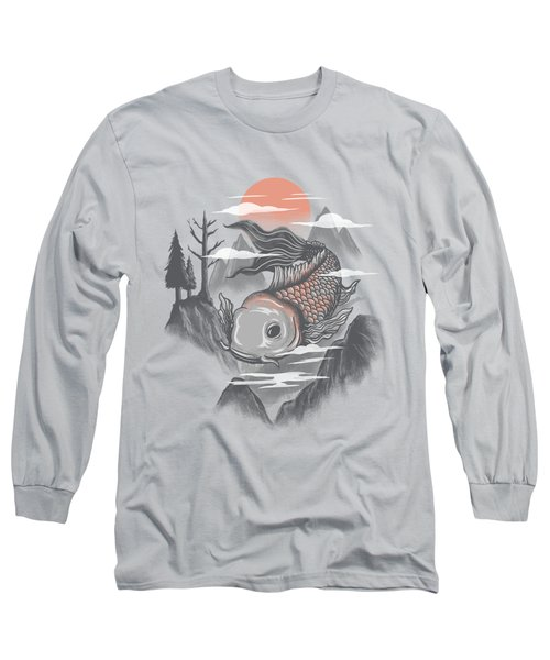 koi Long Sleeve T-Shirt by Anggrahito Pramono