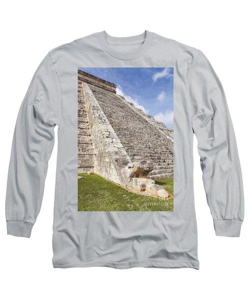 Kukulkan Pyramid At Chichen Itza Long Sleeve T-Shirt