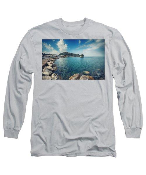 Lacco Ameno Harbour ,  Ischia Island Long Sleeve T-Shirt