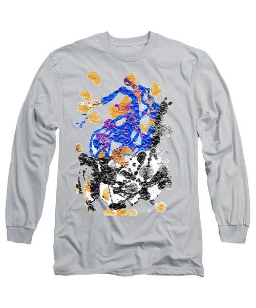 Lady In Blue Long Sleeve T-Shirt