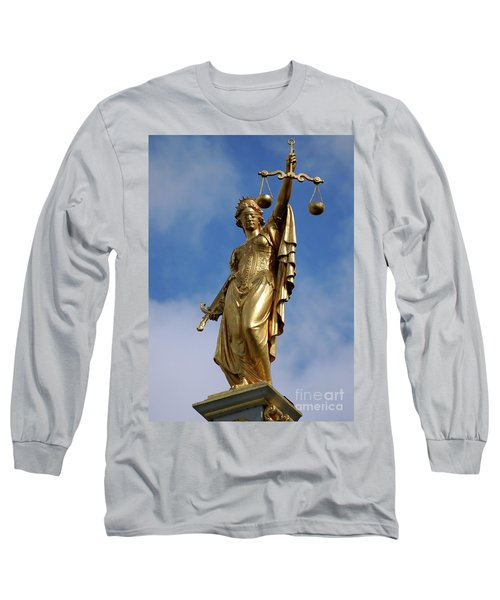 Long Sleeve T-Shirt featuring the photograph Lady Justice In Bruges by RicardMN Photography