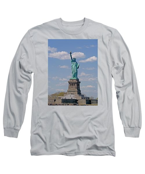 Lady Liberty Long Sleeve T-Shirt by Helen Haw