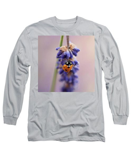 Ladybird On Norfolk Lavender  #norfolk Long Sleeve T-Shirt