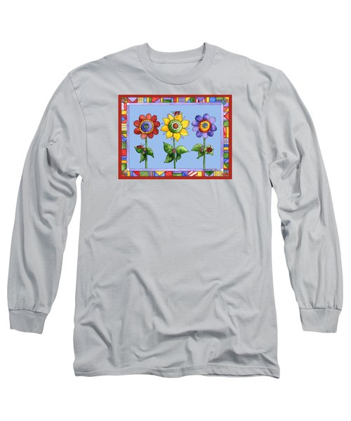Ladybug Trio Long Sleeve T-Shirt by Shelley Wallace Ylst