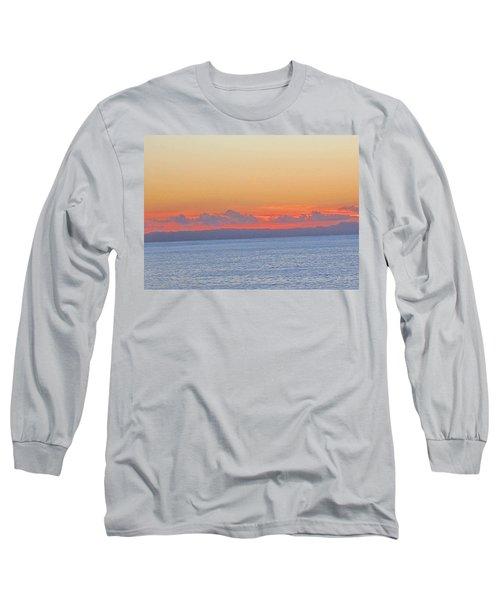 Laguna Orange Sky Long Sleeve T-Shirt by Dan Twyman