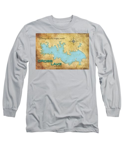 Long Sleeve T-Shirt featuring the digital art Laissez Les Bon Temps Roulet - Cross Lake, La by Greg Sharpe