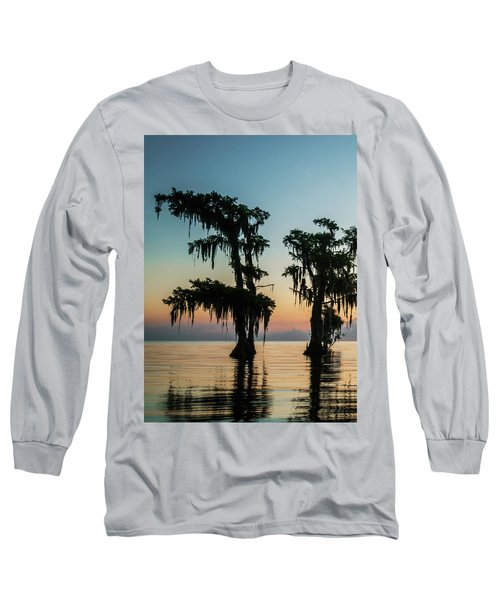 Lake Maurepas Sunrise Triptych No 3 Long Sleeve T-Shirt