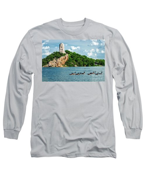Lake Murray's Gaggle Of Geese Long Sleeve T-Shirt by Tamyra Ayles