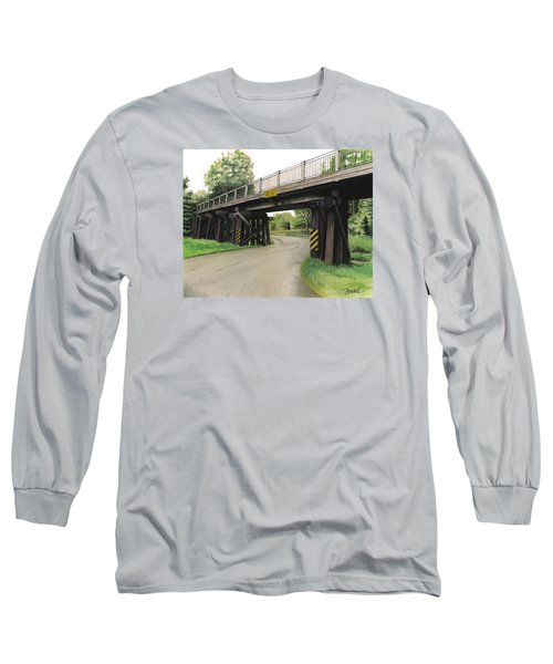Long Sleeve T-Shirt featuring the painting Lake St. Rr Overpass by Ferrel Cordle