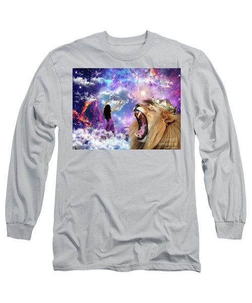 Long Sleeve T-Shirt featuring the digital art Lamb Of God by Dolores Develde