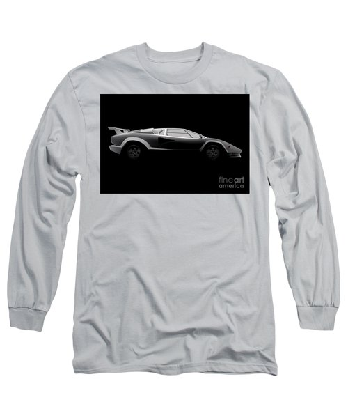 Lamborghini Countach 5000 Qv 25th Anniversary - Side View Long Sleeve T-Shirt