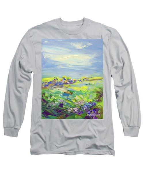 Land Of Milk And Honey Long Sleeve T-Shirt by Tatiana Iliina