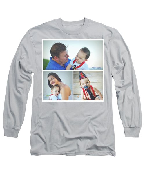 Landon Collage  Long Sleeve T-Shirt by Robert Smith