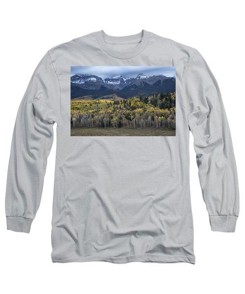 Last Light On Autumn Aspens Long Sleeve T-Shirt