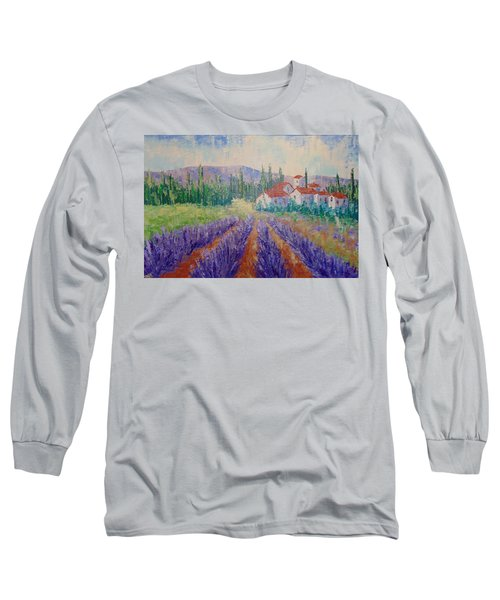 Lavender And Village Of Provence Long Sleeve T-Shirt