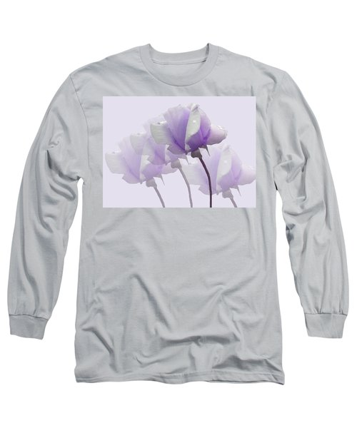 Lavender Roses  Long Sleeve T-Shirt by Rosalie Scanlon