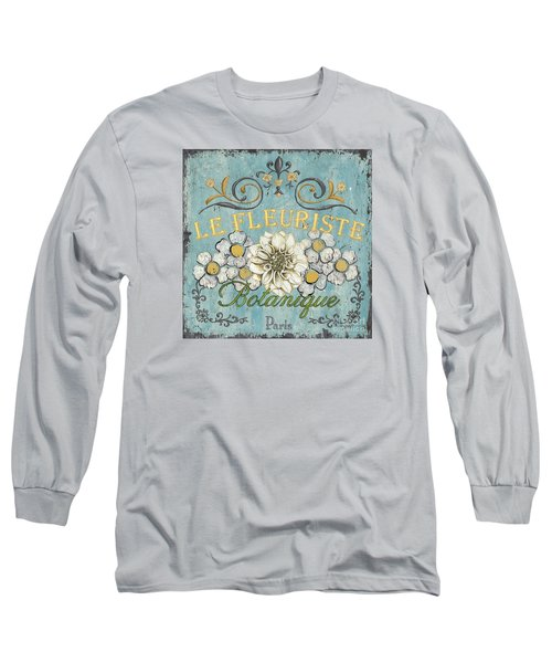 Le Fleuriste De Botanique Long Sleeve T-Shirt by Debbie DeWitt