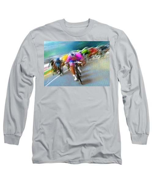 Le Tour De France 09 Long Sleeve T-Shirt by Miki De Goodaboom