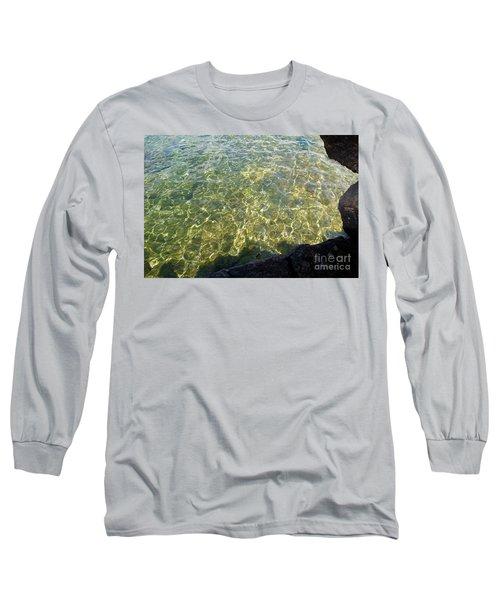 Ledge View Ripples Long Sleeve T-Shirt by Sandra Updyke