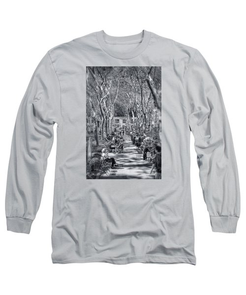 Long Sleeve T-Shirt featuring the photograph Leisure Time by Sabine Edrissi