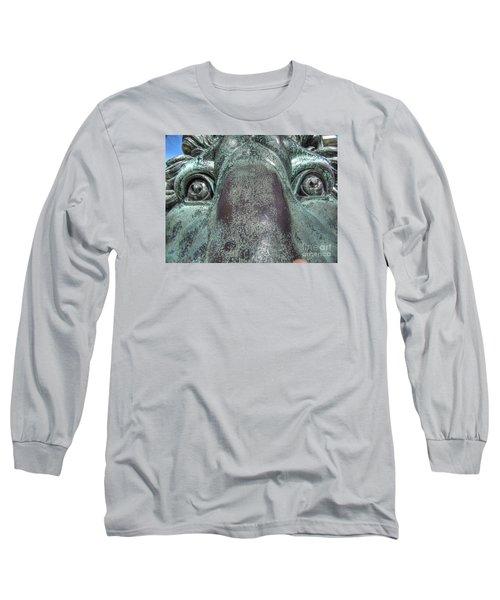 Leo Eyes Long Sleeve T-Shirt by Yury Bashkin