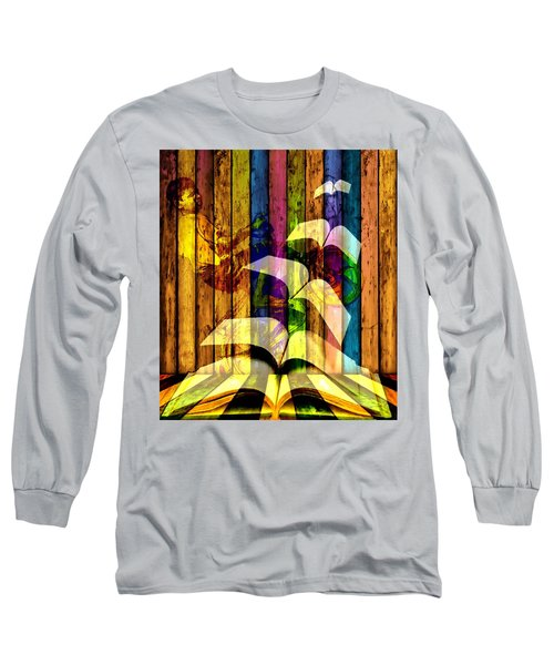 Long Sleeve T-Shirt featuring the digital art Let Me Fly by Bliss Of Art