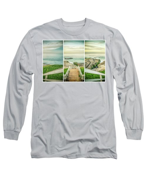 Let's Go Down To Windansea Long Sleeve T-Shirt by Joseph S Giacalone