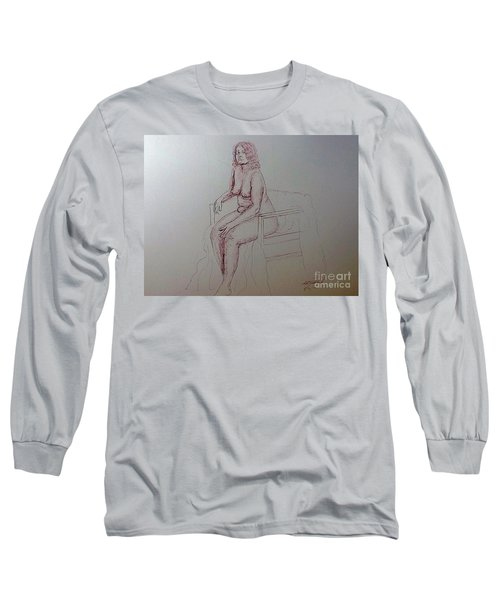 Life Drawing Nude Lady Long Sleeve T-Shirt