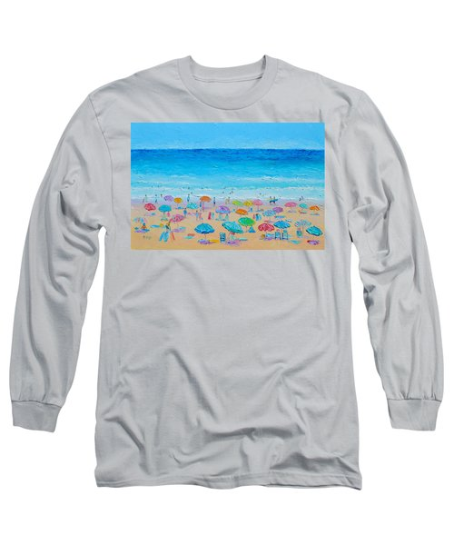 Life On The Beach Long Sleeve T-Shirt by Jan Matson