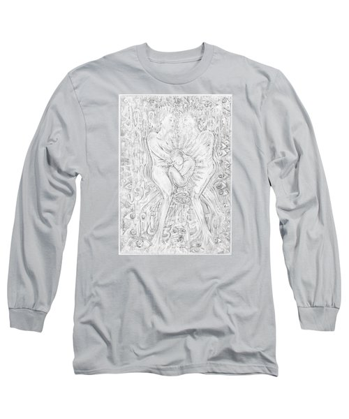 Long Sleeve T-Shirt featuring the mixed media Life Series 5 by Giovanni Caputo