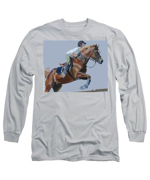 Horse Jumper Long Sleeve T-Shirt by Patricia Barmatz