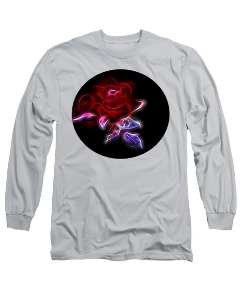 Light Play Rose Long Sleeve T-Shirt by Linda Phelps