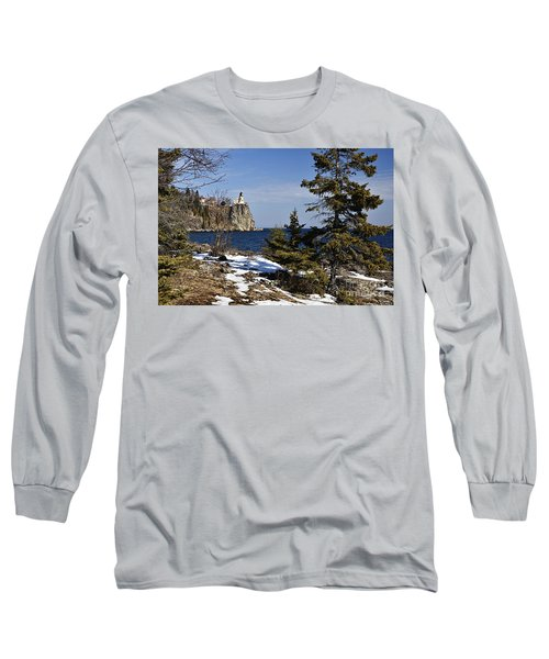 Long Sleeve T-Shirt featuring the photograph Lighthouse Framed by Larry Ricker