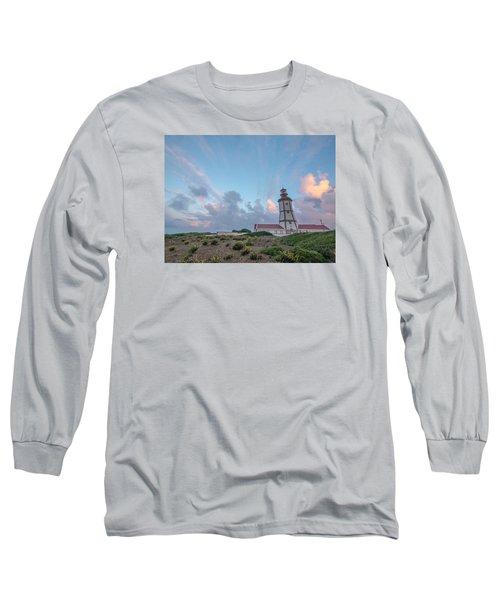 Lighthouse Sunrise At Cape Espichel Long Sleeve T-Shirt