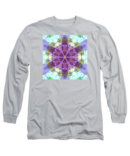 Long Sleeve T-Shirt featuring the digital art Lightmandala 6 Star 2 by Robert Thalmeier