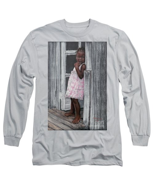 Lil' Girl In Pink Long Sleeve T-Shirt