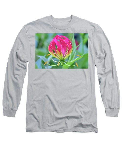 Lily In Flames Long Sleeve T-Shirt